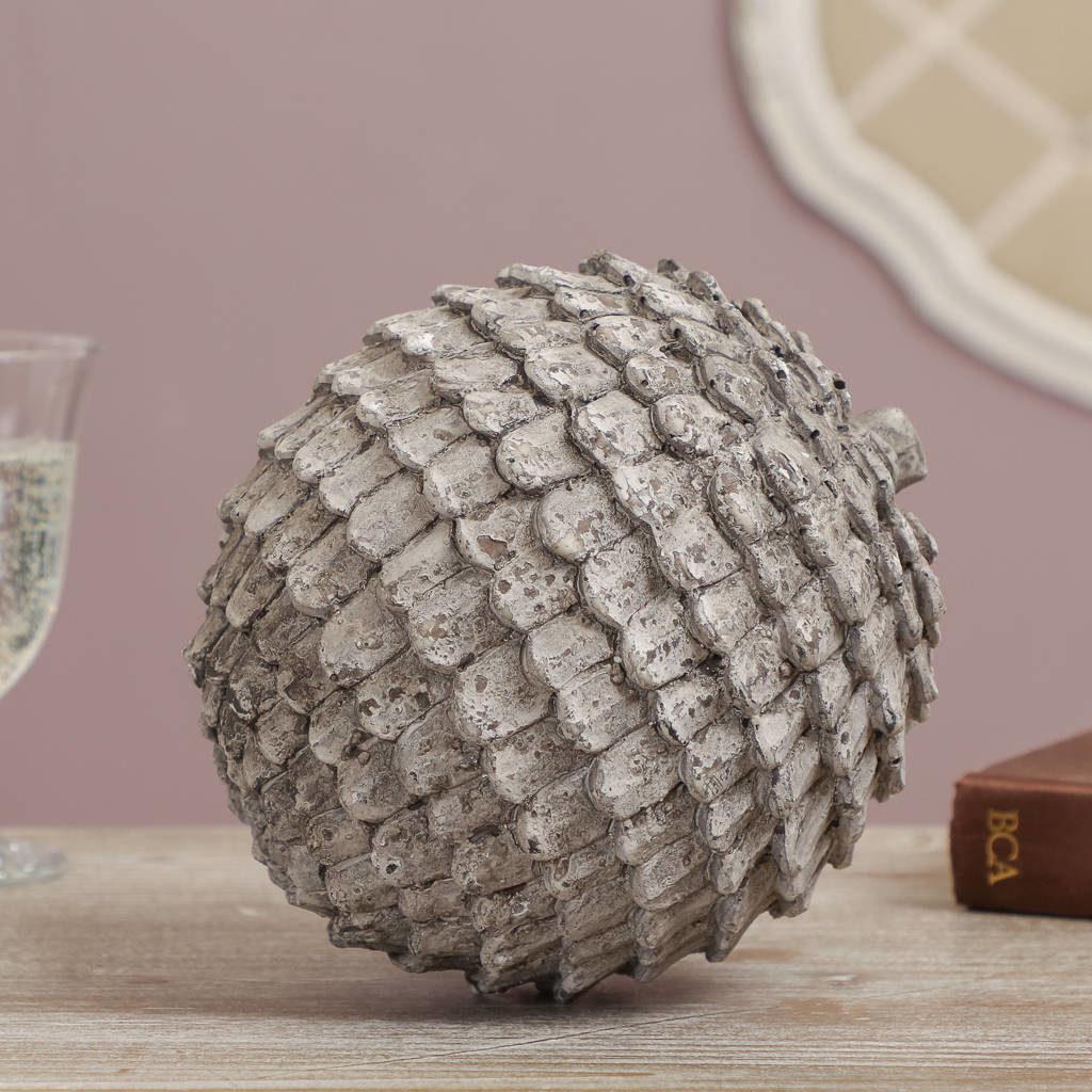 distressed-grey-artichoke-ornament-2